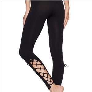 Free People Movement On Tour Lace Up Legging Black